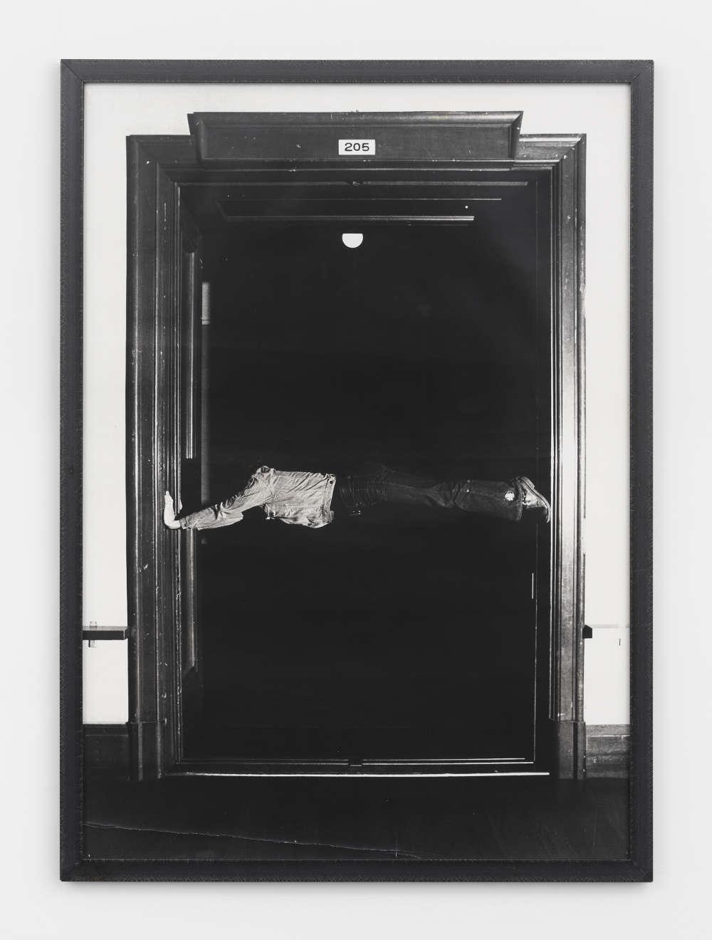 Keiji Uematsu, Horizontal Position, 1973. Gelatin silver print, unique, vintage 102.4 x 72.4 cm (40 1/4 x 28 1/2 in.) Courtesy the artist and Simon Lee Gallery