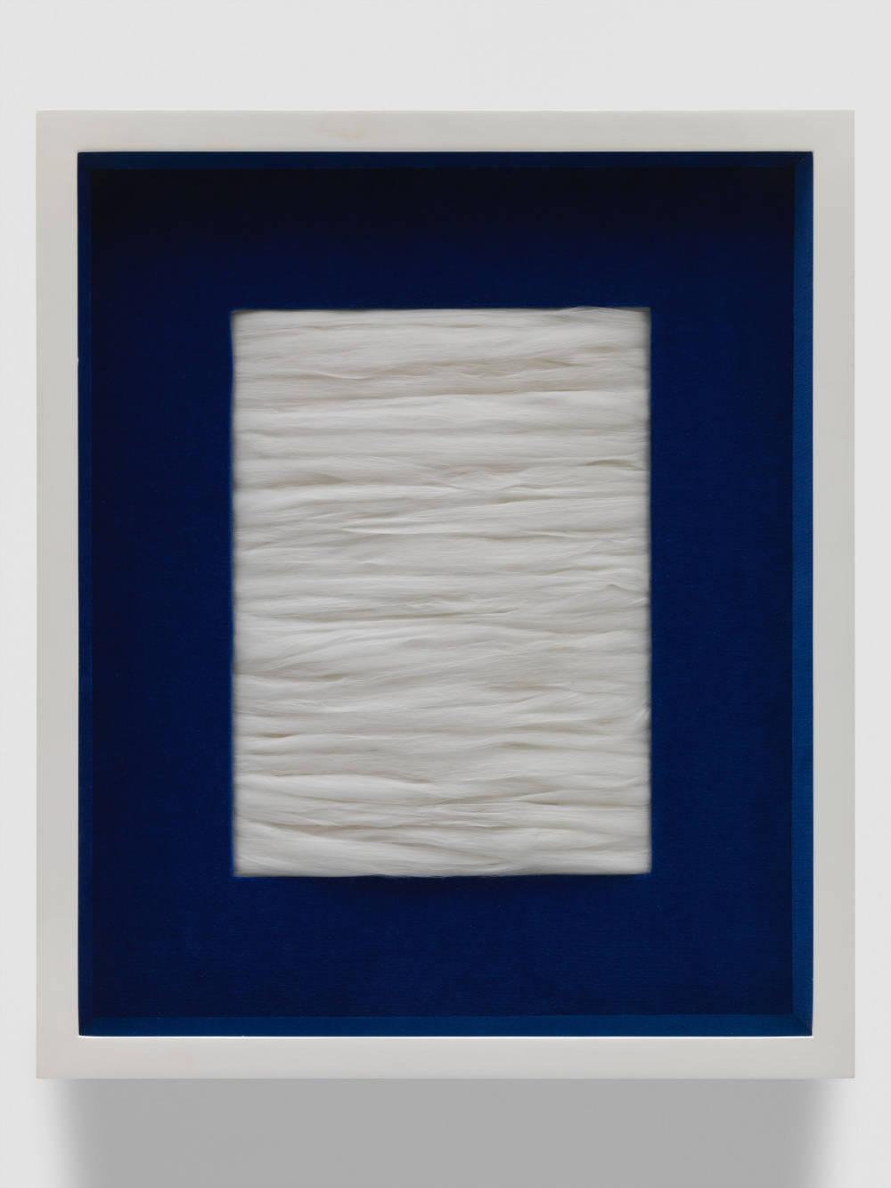Piero Manzoni, Achrome, 1962. Synthetic fiber 28.5 x 21.5 cm / 11 1/4 x 8 1/2 in. Courtesy Fondazione Piero Manzoni, Milan and Hauser & Wirth © Fondazione Piero Manzoni, Milan