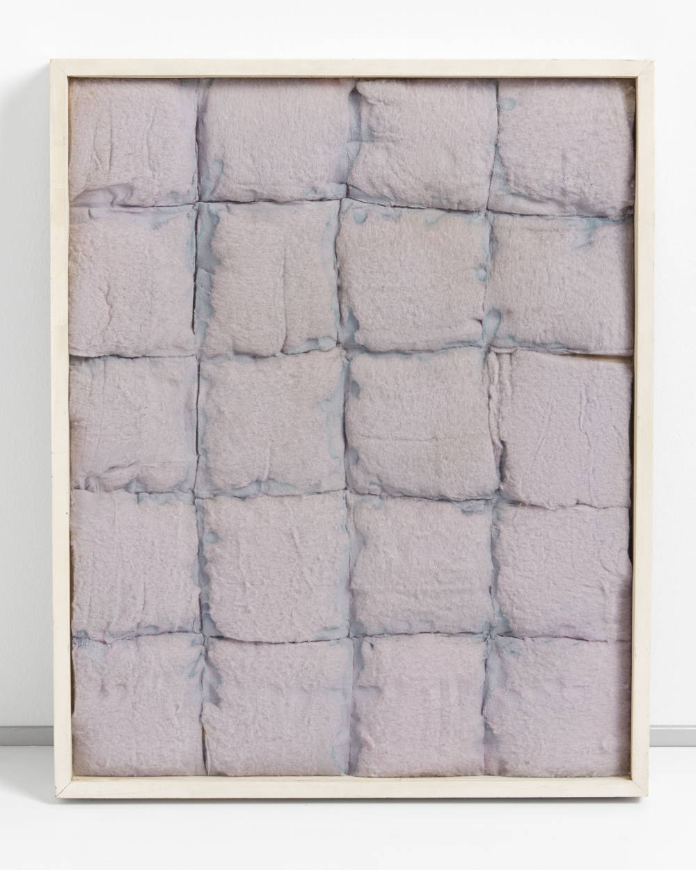 Piero Manzoni, Achrome, 1961. Square cotton wading and cobalt chloride 56.2 x 47.2 cm / 22 1/8 x 18 5/8 in. Herning Museum of Contemporary Art (HEART) Photo: Søren Krogh © Fondazione Piero Manzoni, Milan