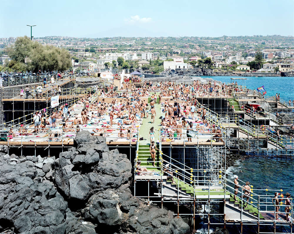 Massimo Vitali, Catania Under the Volcano, 2007. Lightjet C-Print from Negative Scan in Diasec Mount, 228 x 180 cm (unframed), Courtesy Mazzoleni London Torino