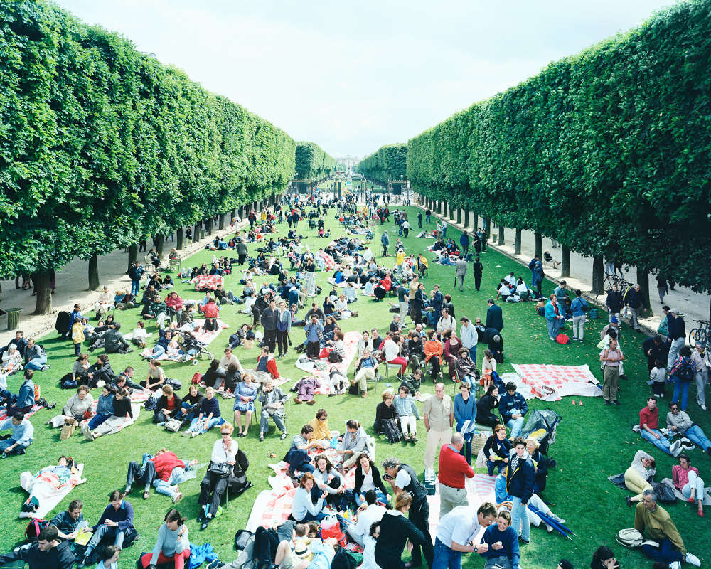 Massimo Vitali, Picnic Allée, 2000. Lightjet C-Print from Negative Scan in Diasec Mount, 189 x 151 cm (unframed)|, Courtesy Mazzoleni London Torino