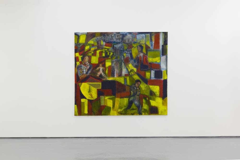 Behrang Karimi, n.y.t (Matrix), 2019. Oil on canvas 170 x 190 cm © Behrang Karimi, courtesy Maureen Paley, London