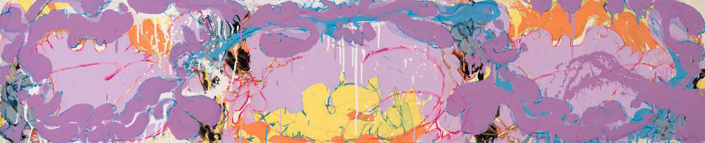 Norman Bluhm (1921-1999), Untitled, 1978. Acrylic, ink, and pastel on paper, 12 3/4 x 62 inches. Signed and dated lower right: bluhm / '78