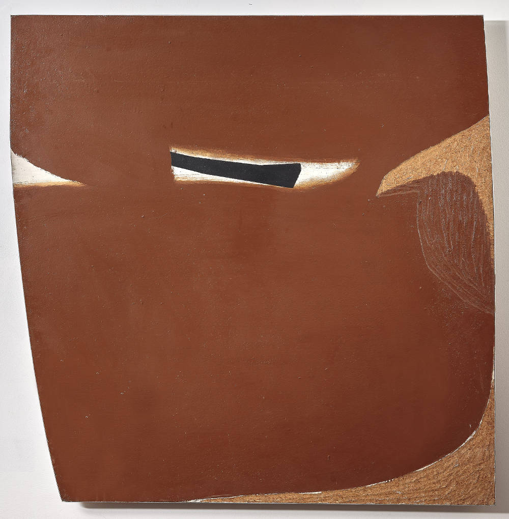 Victor Pasmore, Golden Ochre, Brown Image, 1964. Oil on board 122.5 x 119.4 cm