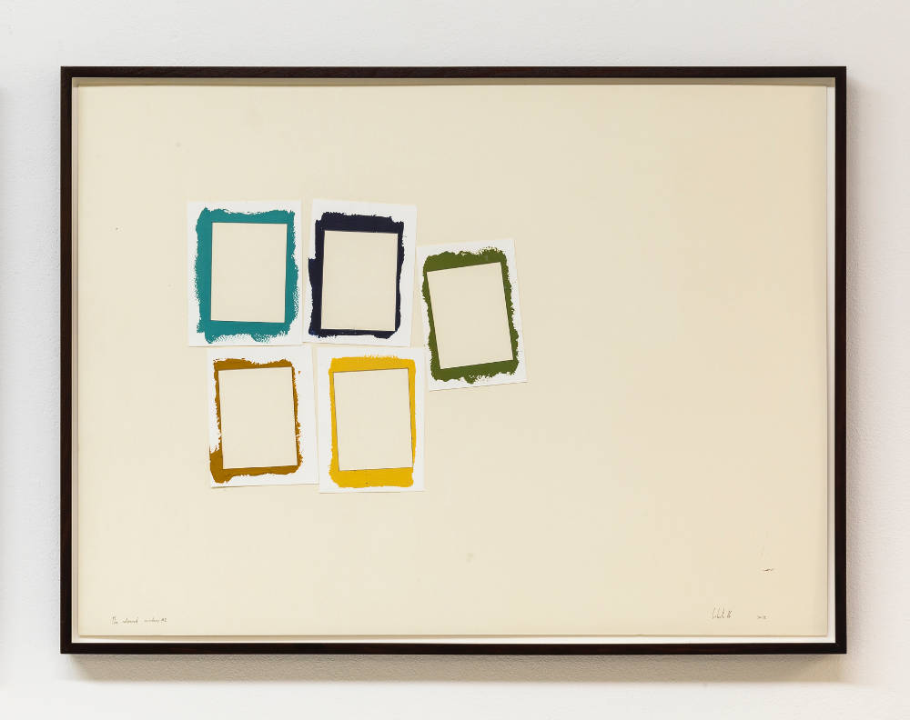 Pedro Cabrita Reis, Coloured window #2, 2016. Acrylic on paper 59.5 x 80.5 cm (23 3/8 x 31 3/4 in.) framed 63 x 84 x 3.7 cm (24 3/4 x 33 1/8 x 1 1/2 in.) signed and dated recto