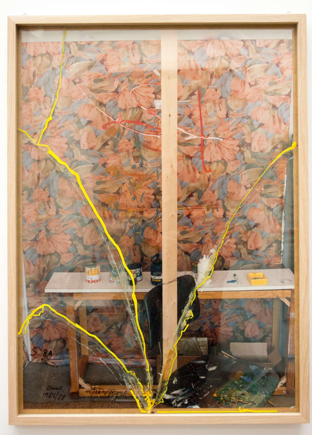 Dieter Roth, Back Cloth (Painting-Photo) (with Björn Roth), 1986/1988. Color photography, in broken and glued glass, aluminum frame 70 x 50 cm / 27 1/2 x 19 5/8 in © Dieter Roth Estate. Courtesy the Estate and Hauser & Wirth