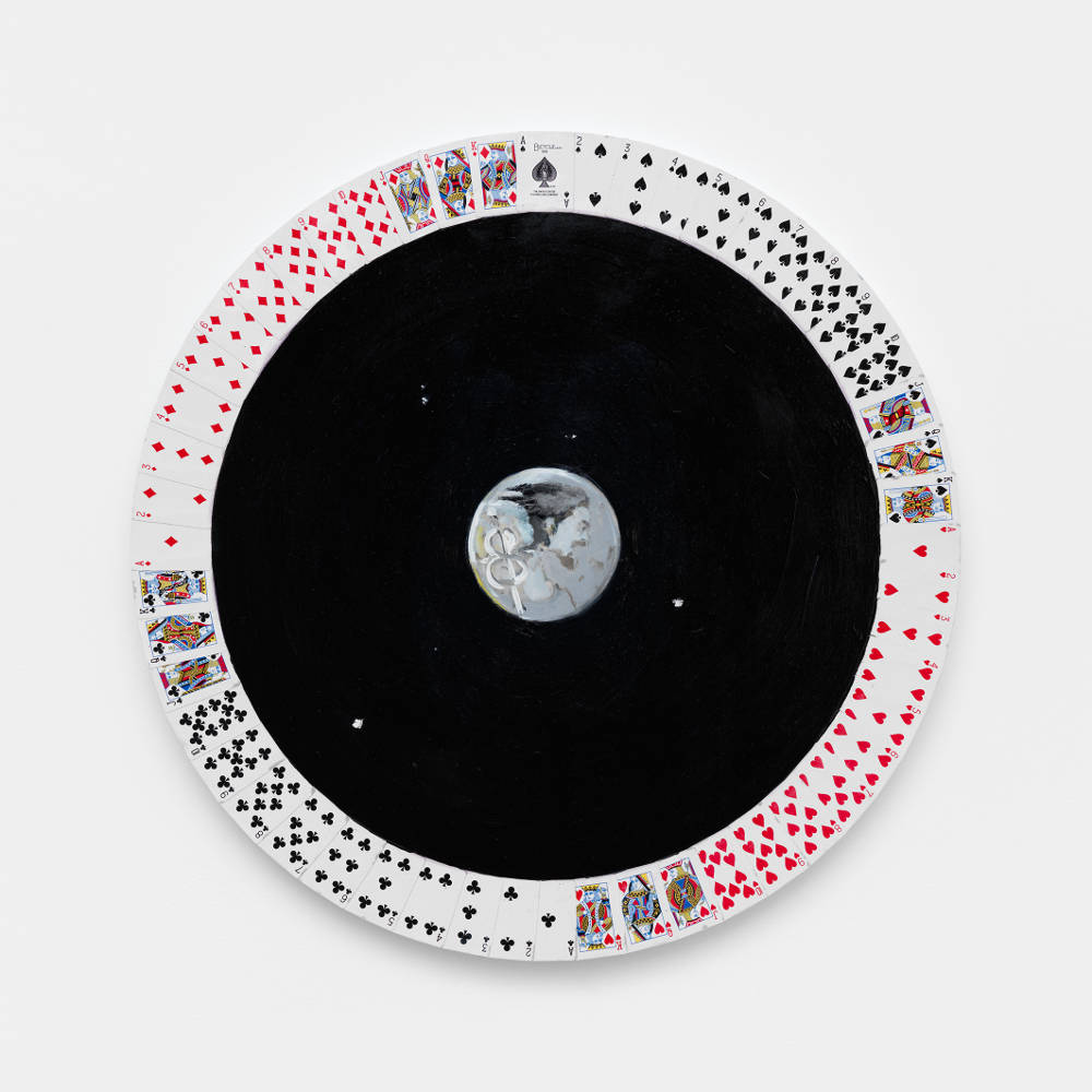 Verne Dawson, Days of the Week (Wednesday), 2019. Oil on panel, diameter 61 cm / diameter 24 in © Verne Dawson. Courtesy the artist and Galerie Eva Presenhuber, Zurich / New York