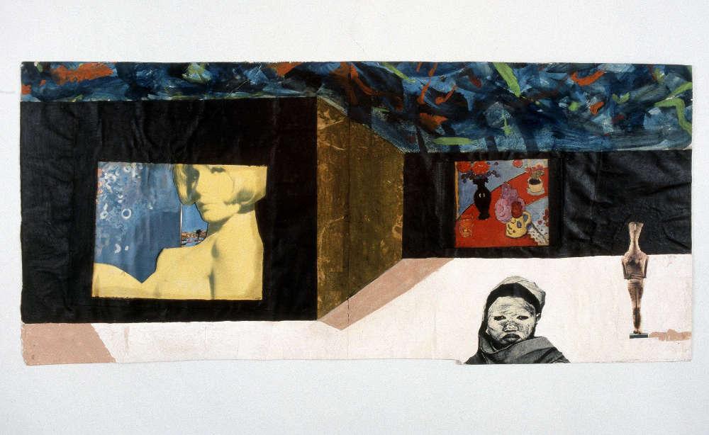 Franz West, Ergriffenheit, 1983. Collage 38.5 x 83.5 cm / 15 1/8 x 32 7/8 in © Archive Franz West, © 2019 Estate of Franz West. Courtesy the Estate and Hauser & Wirth