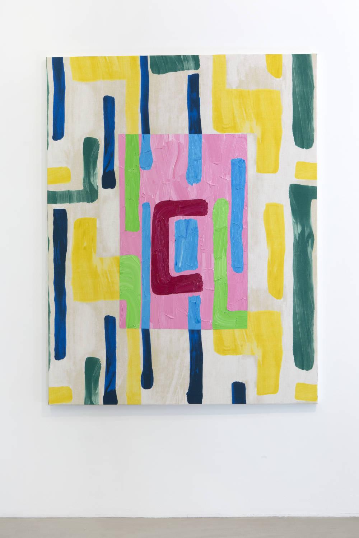 BertrandLavier, Nobilis n°3, 2019. Acrylic paint on canvas 180x145cm ©ADAGPBertrandLavier. Photo:archiveskamelmennour. Courtesytheartist and kamelmennour,Paris/London
