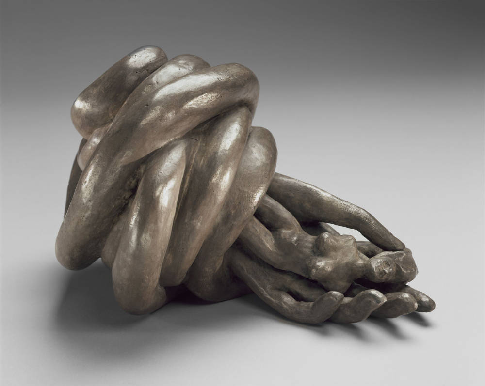 Louise Bourgeois, Nature Study, 1986. Bronze, silver nitrate patina 15.2 x 25.4 x 17.8 cm / 6 x 10 x 7 in. Photo: Christopher Burke © The Easton Foundation/VAGA at ARS, NY. Courtesy The Easton Foundation and Hauser & Wirth