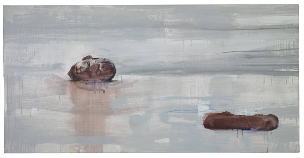 Brian Maguire, Nature Morte (6), 2014. Acrylic on Linen 110 x 220 cm