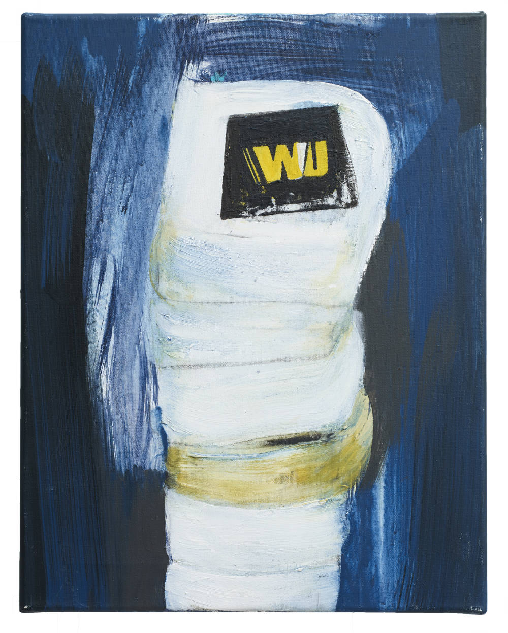 Brian Maguire, Cocaine Laundry Series, WU, 2016. Acrylic on canvas 46 x 35.5 cm