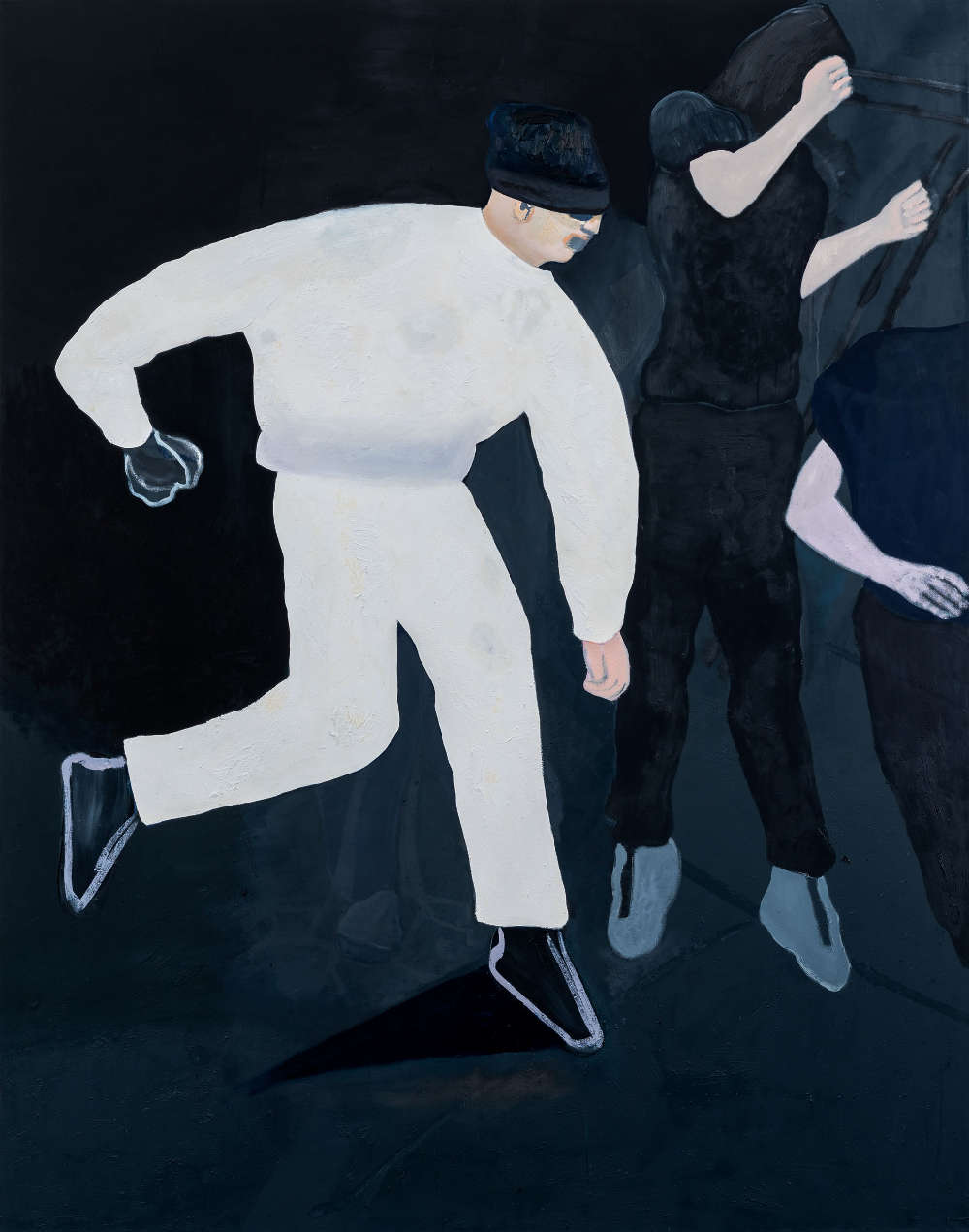 Florian Krewer, here we go again, 2018. Oil on canvas 94 1/2 x 74 3/4 inches 240 x 190 cm
