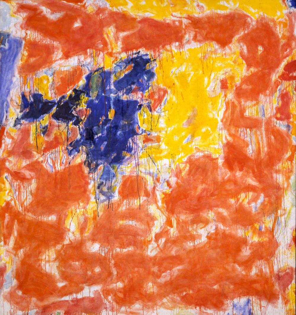 Sam Francis, Arcueil, 1956/58. Oil on canvas 80 3/4 x 76 inches (205.1 x 193 cm) © Sam Francis Foundation, California / DACS 2019. Mildred Lane Kemper Art Museum, Washington University in St. Louis, gift of Mr and Mrs Richard K Weil, 1962
