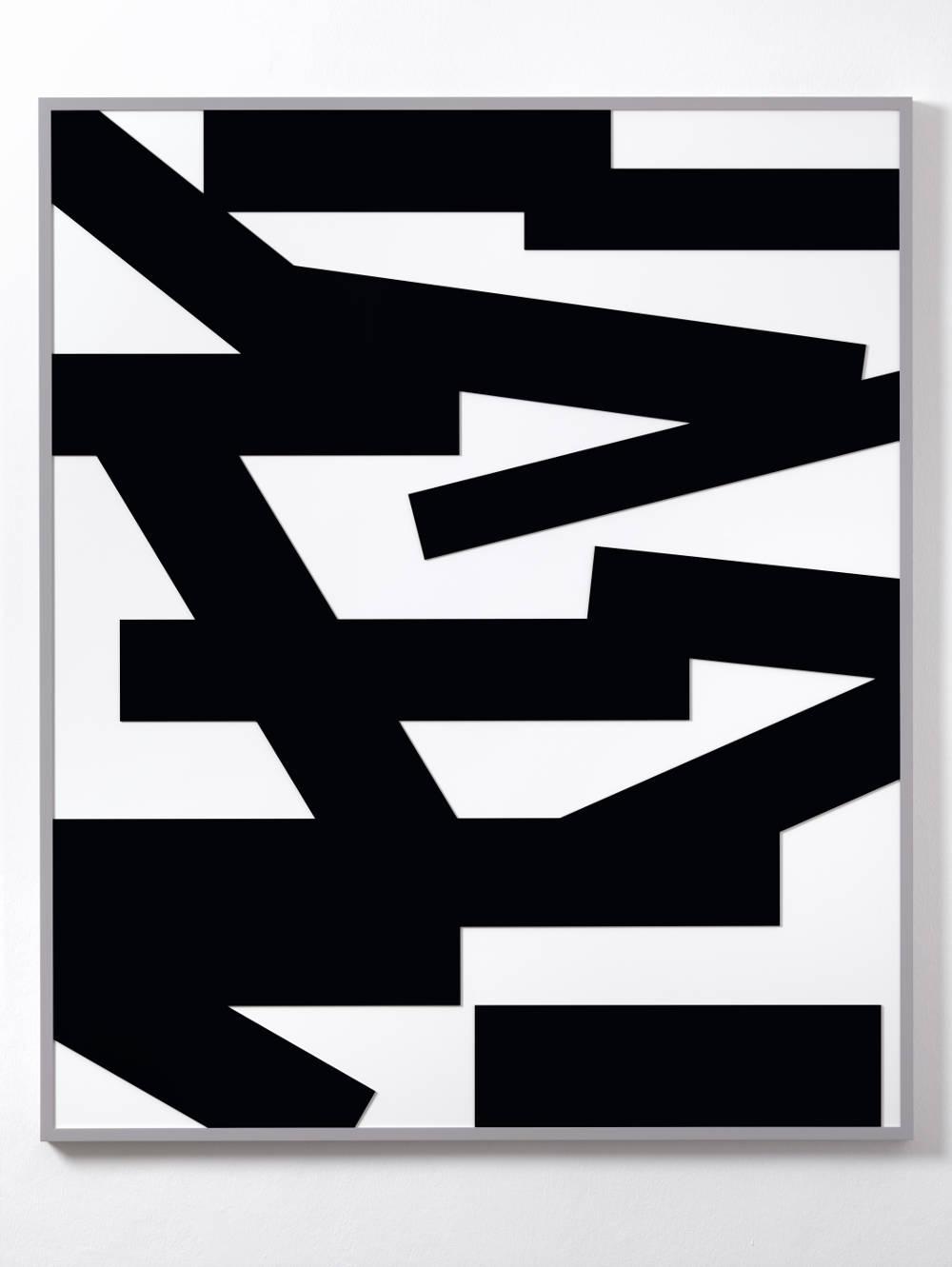 Gerwald Rockenschaub, Untitled (Relief), 2018. Acrylglas, Rahmen RAL 7004 150 x 125 cm (59,06 x 49,21 in) Courtesy Galerie Thaddaeus Ropac, London / Paris / Salzburg © Gerwald Rockenschaub. Photo: Ben Westoby