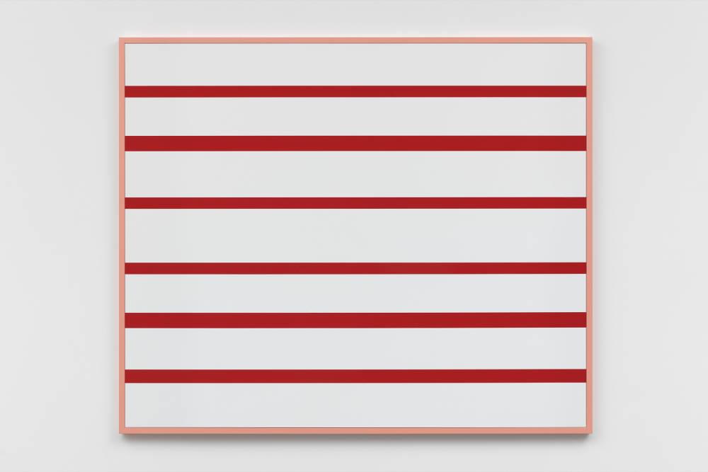 Gerwald Rockenschaub, Untitled, 2019. Acrylic glass, MDF frame 129 x 154 x 4 cm (50,79 x 60,63 x 1,57 in) Courtesy Galerie Thaddaeus Ropac, London / Paris / Salzburg © Gerwald Rockenschaub. Photo: Ben Westoby