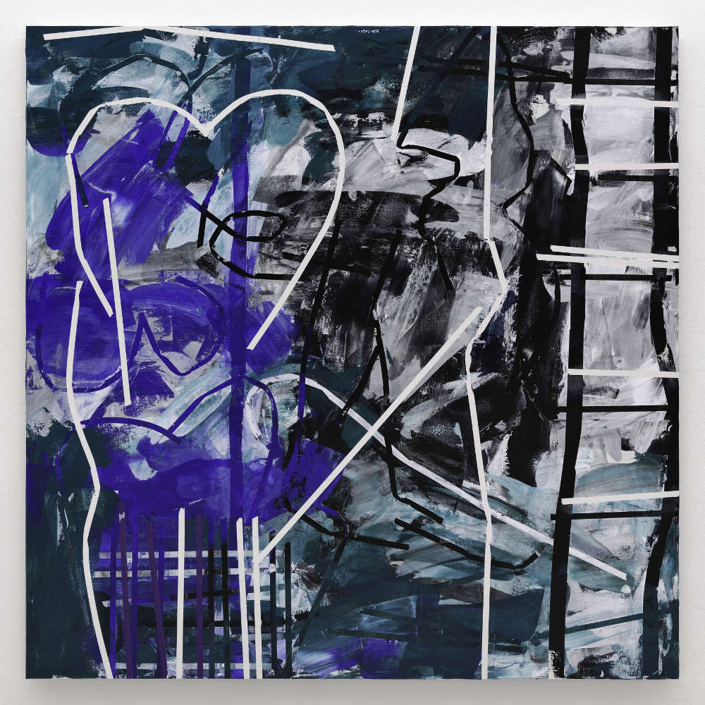Heimo Zobernig, Untitled, 2018. 200 x 200 cm (78 3/4 x 78 3/4 in.) Courtesy the artist and Simon Lee Gallery