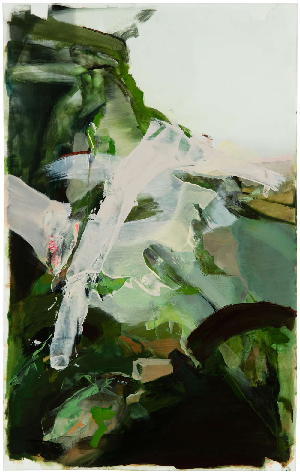 Hollis Heichemer (b. 1963), #2, 2018. Initialed and dated lower right: HAH / 18. Oil on Mylar 19 x 12 inches