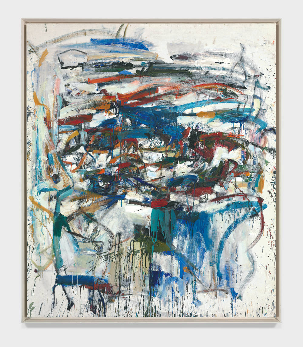 Joan Mitchell, Untitled, 1957. Oil on canvas 69 x 58 1/2 inches (175.2 x 148.5 cm) © Estate of Joan Mitchell. Private Collection, Santa Barbara