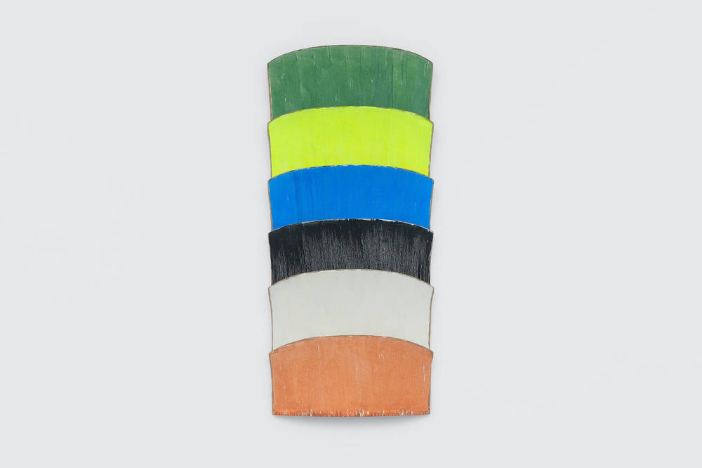Ron Gorchov, ASCELLA, 2017, oil on linen, 194 x 90 x 23, 76 3/8 x 35 3/8 x 9 1/8 ins. Photo: Ben Westoby. © Ron Gorchov. Courtesy the artist, Modern Art, London and Cheim & Read, New York, NY, USA