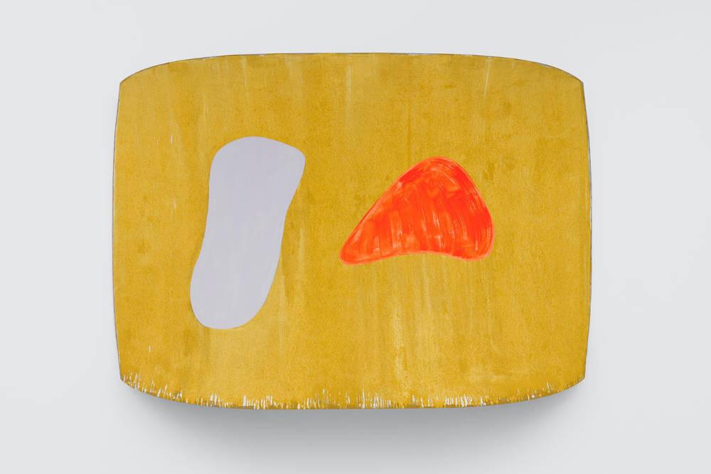 Ron Gorchov, ANNA PERENNA, 2017, oil on linen, 180 x 265 x 37 cm, 70 7/8 x 104 3/8 x 14 5/8 ins. Photo: Ben Westoby. © Ron Gorchov. Courtesy the artist, Modern Art, London and Cheim & Read, New York, NY, USA