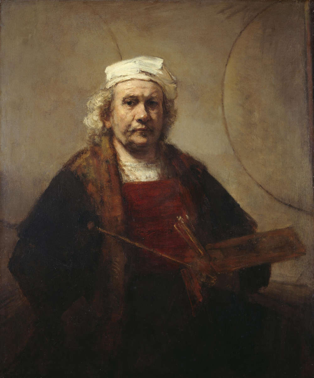 Rembrandt van Rijn, Self-Portrait with Two Circles, c. 1665. Oil on canvas 45 x 37 in 114.3 x 94 cm. English Heritage, The Iveagh Bequest (Kenwood, London). Photo: © Historic England Photo Library