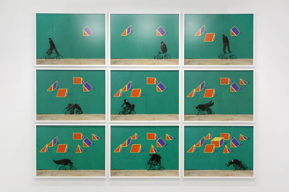 RobinRhode, Frustum, 2017. C-prints. Overall: 175,3x228cm. Each: 55,1x72,6cm ©RobinRhode. Photo:archiveskamelmennour. Courtesytheartistandkamelmennour,Paris/London