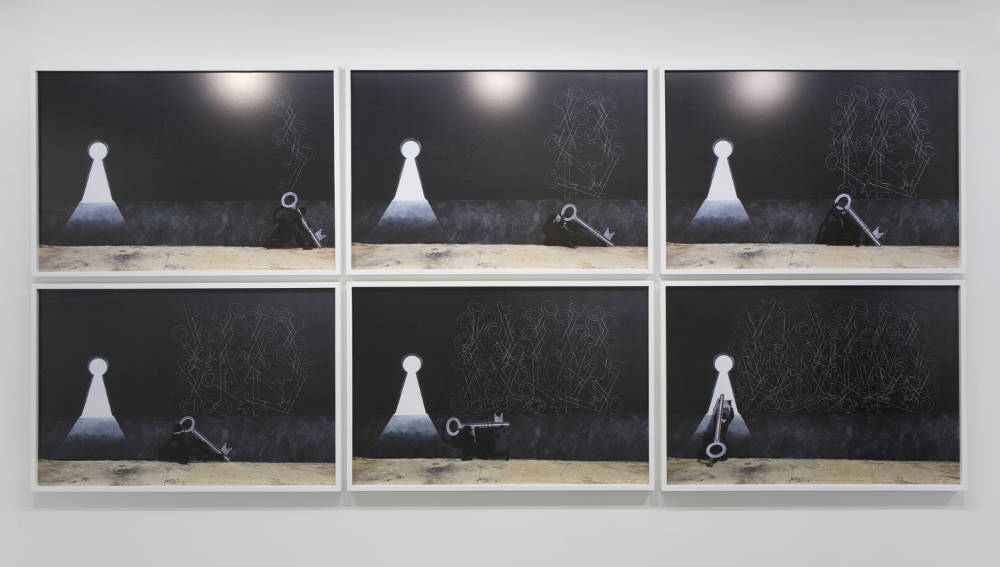 RobinRhode, Holy Key, 2016. C-prints. Overall: 130x288cm. Each: 62,6x92,6cm ©RobinRhode. Photo:archiveskamelmennour. Courtesytheartistandkamelmennour,Paris/London