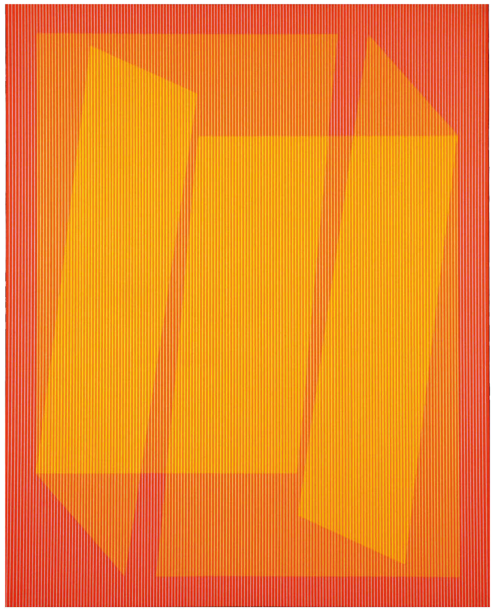 Julian Stańczak, Assemble, 1973-74. Acrylic on canvas, 127 x 101 cm, 50 x 39 3/4 in.