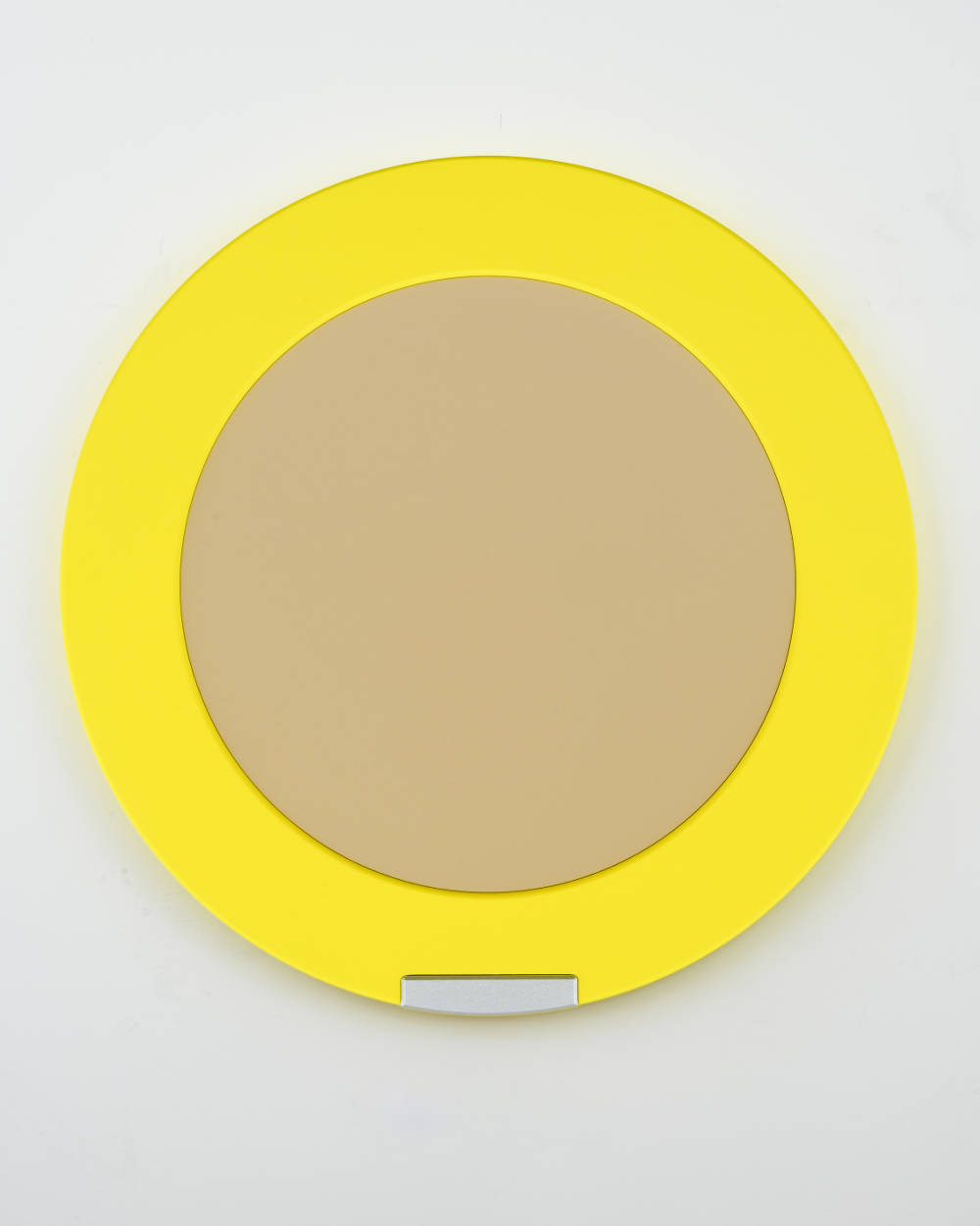Sylvie Fleury, Moderately Fair SPF 30, 2018. Acrylic on canvas on wood 10 kgs 125 x 125 x 6 cm (49,21 x 49,21 x 2,36 in) Courtesy Galerie Thaddaeus Ropac, London / Paris / Salzburg © Sylvie Fleury. Photo: Charles Duprat
