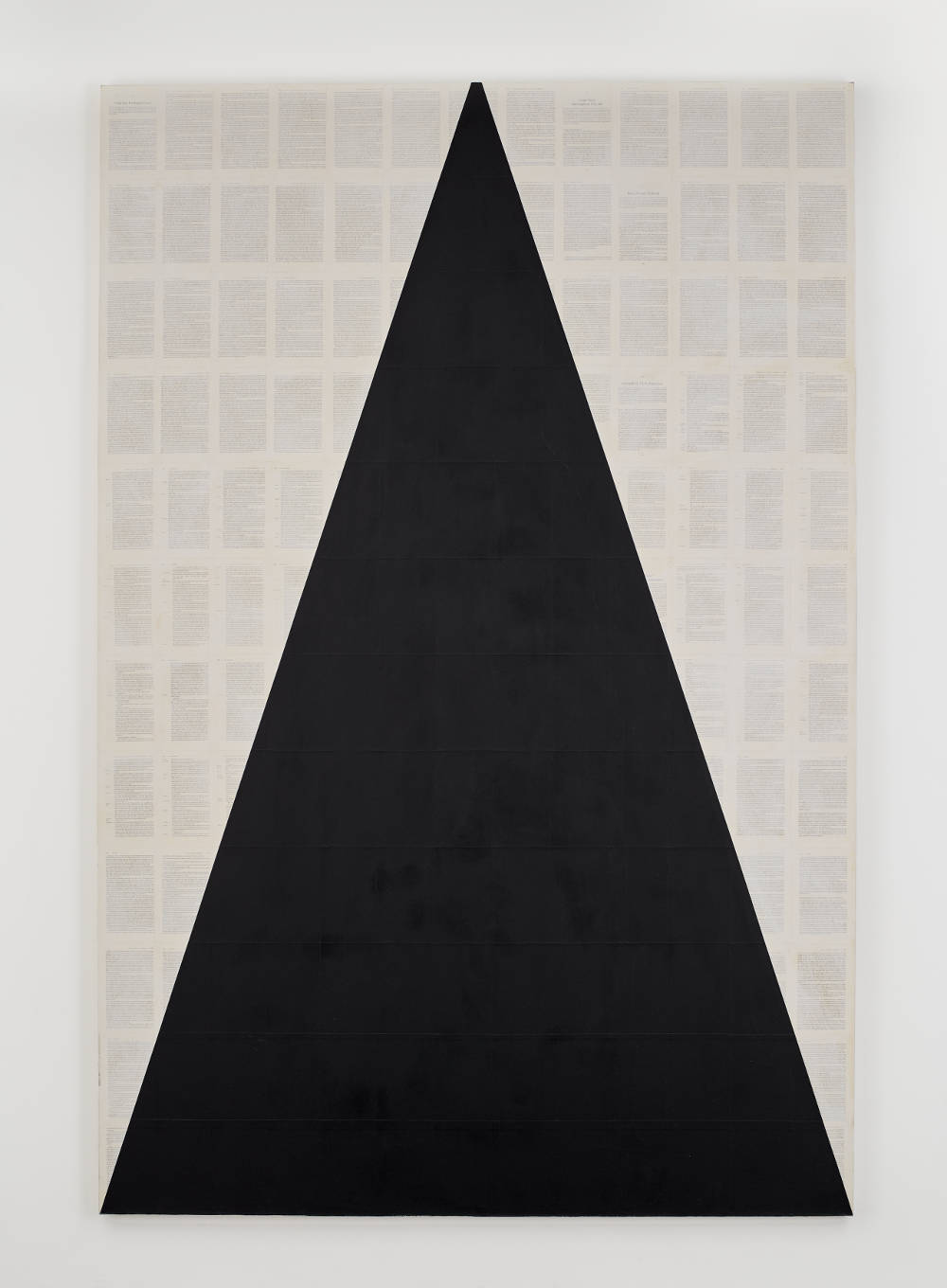 TIM ROLLINS and K.O.S., I see the promised land (after the Rev. Dr. M. L. King, Jr.), 2008. Matte acrylic and book pages on canvas 108 x 72 inches 274.3 x 182.9 cm. Courtesy Studio K.O.S., Lehmann Maupin, New York, Hong Kong, and Seoul. Photo: Matthew Herrmann