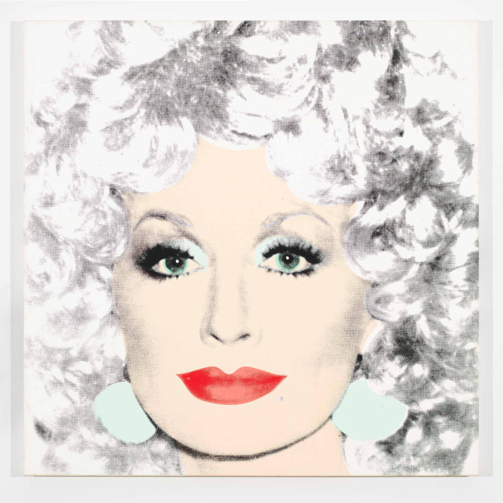 Andy Warhol, Dolly Parton, 1985. Acrylic and silkscreen ink on canvas 42 x 42 inches (106.7 x 106.7 cm) © 2019 The Andy Warhol Foundation for the Visual Arts, Inc. / Licensed by Artists Rights Society (ARS), New York. Courtesy Lévy Gorvy. Photo: Tim Nighswander