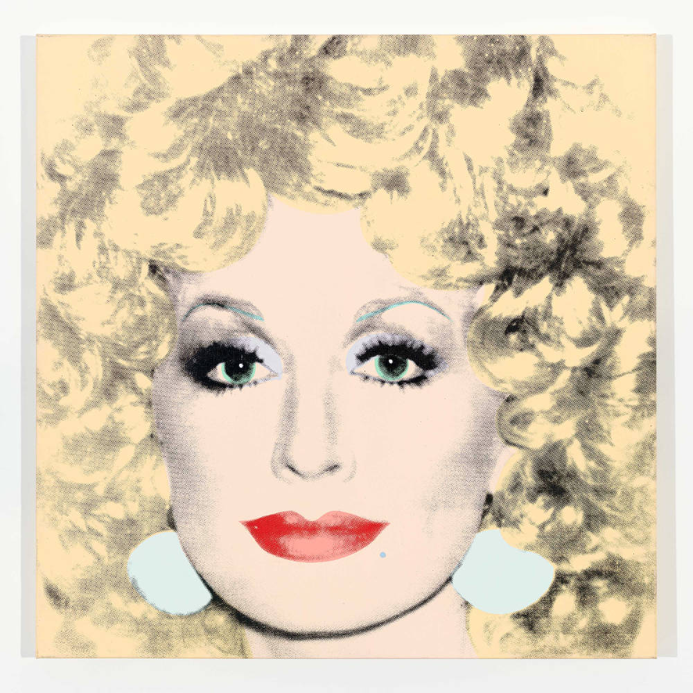 Andy Warhol, Dolly Parton, 1985. Silkscreen inks and synthetic polymer paints on canvas 42 x 42 inches (106.7 x 106.7 cm) © 2019 The Andy Warhol Foundation for the Visual Arts, Inc. / Licensed by Artists Rights Society (ARS), New York. Courtesy Lévy Gorvy. Photo: Tim Nighswander