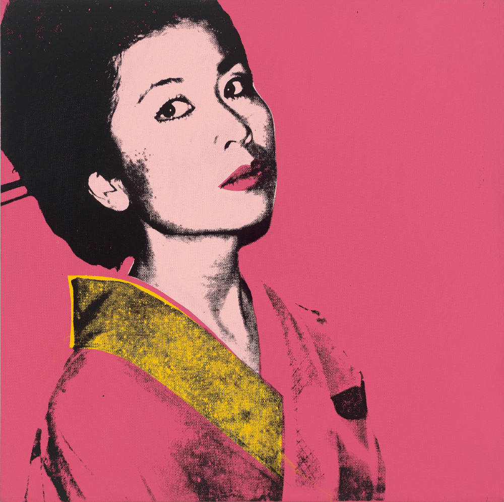 Andy Warhol, Kimiko Powers, 1972. Acrylic and silkscreen ink on canvas 40 x 40 inches (101.6 x 101.6 cm) © 2019 The Andy Warhol Foundation for the Visual Arts, Inc. / Licensed by Artists Rights Society (ARS), New York. Courtesy Lévy Gorvy. Photo: Tim Nighswander