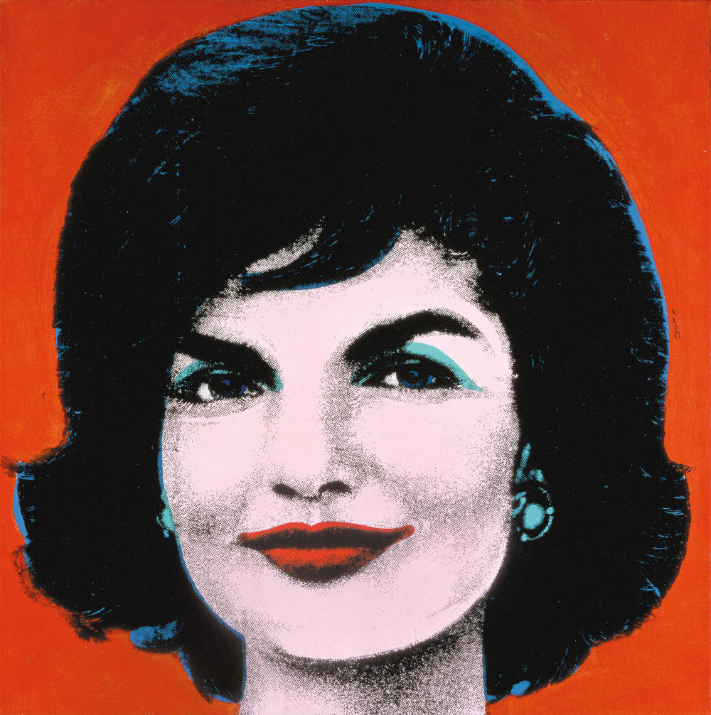 Andy Warhol, Red Jackie, 1964. Acrylic and silkscreen ink 40 x 40 inches (101.6 x 101.6 cm) © 2019 The Andy Warhol Foundation for the Visual Arts, Inc. / Licensed by Artists Rights Society (ARS), New York. Photo: Froehlich Collection, Stuttgart. Courtesy Froehlich Collection, Stuttgart
