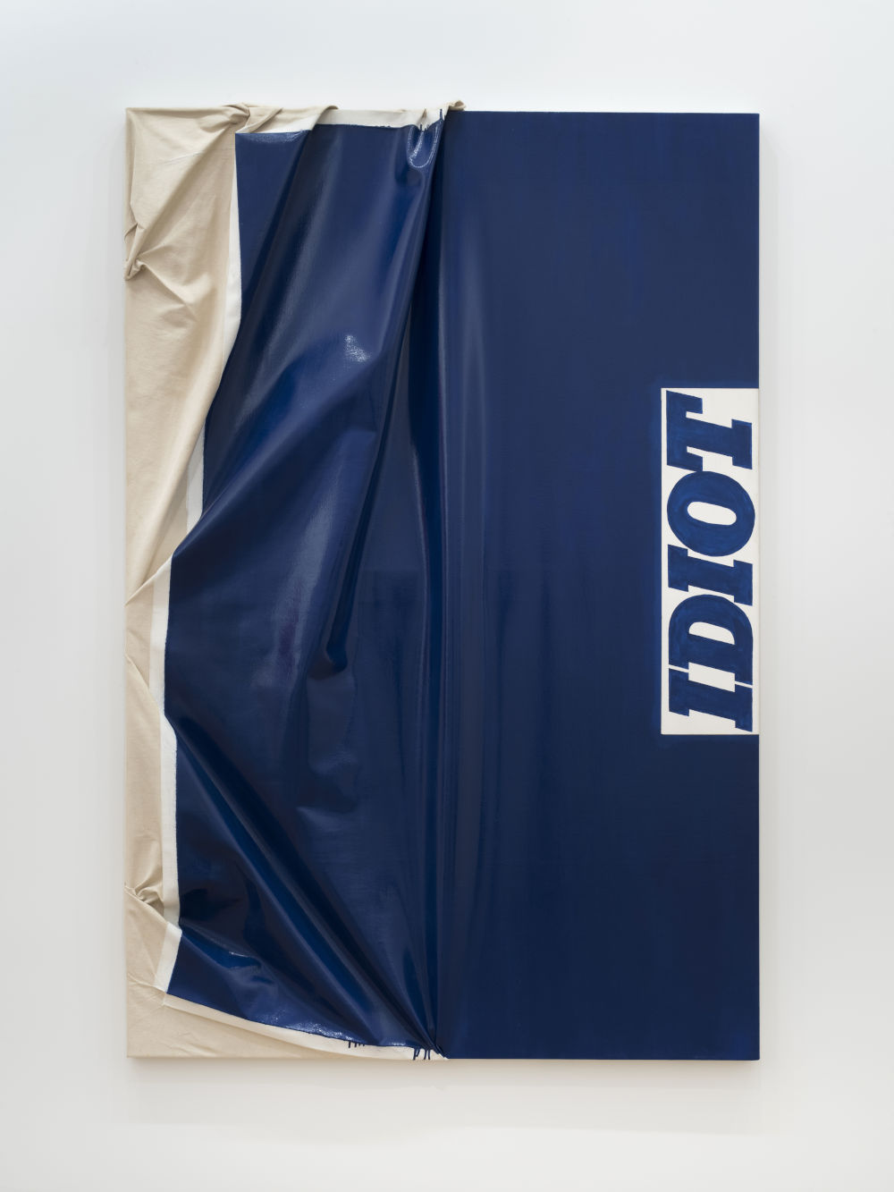 Steven Parrino, Blue Idiot, 1986. Acrylic and enamel on canvas 72 x 48 inches 182.9 x 121.9 cm. Signed, titled and dated Blue Idiot S. Parrino 1986 (on the stretcher); stamped STEVEN PARRINO (on lower right edge)