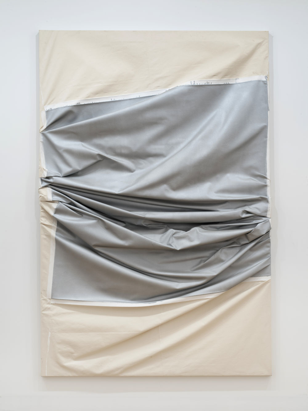Steven Parrino, Death in America #3, 2003. Acrylic on canvas and gesso 107 x 72 inches 270 x 180 cm. Signed and titled Steven Parrino [Death in America] #3 (on the stretcher)