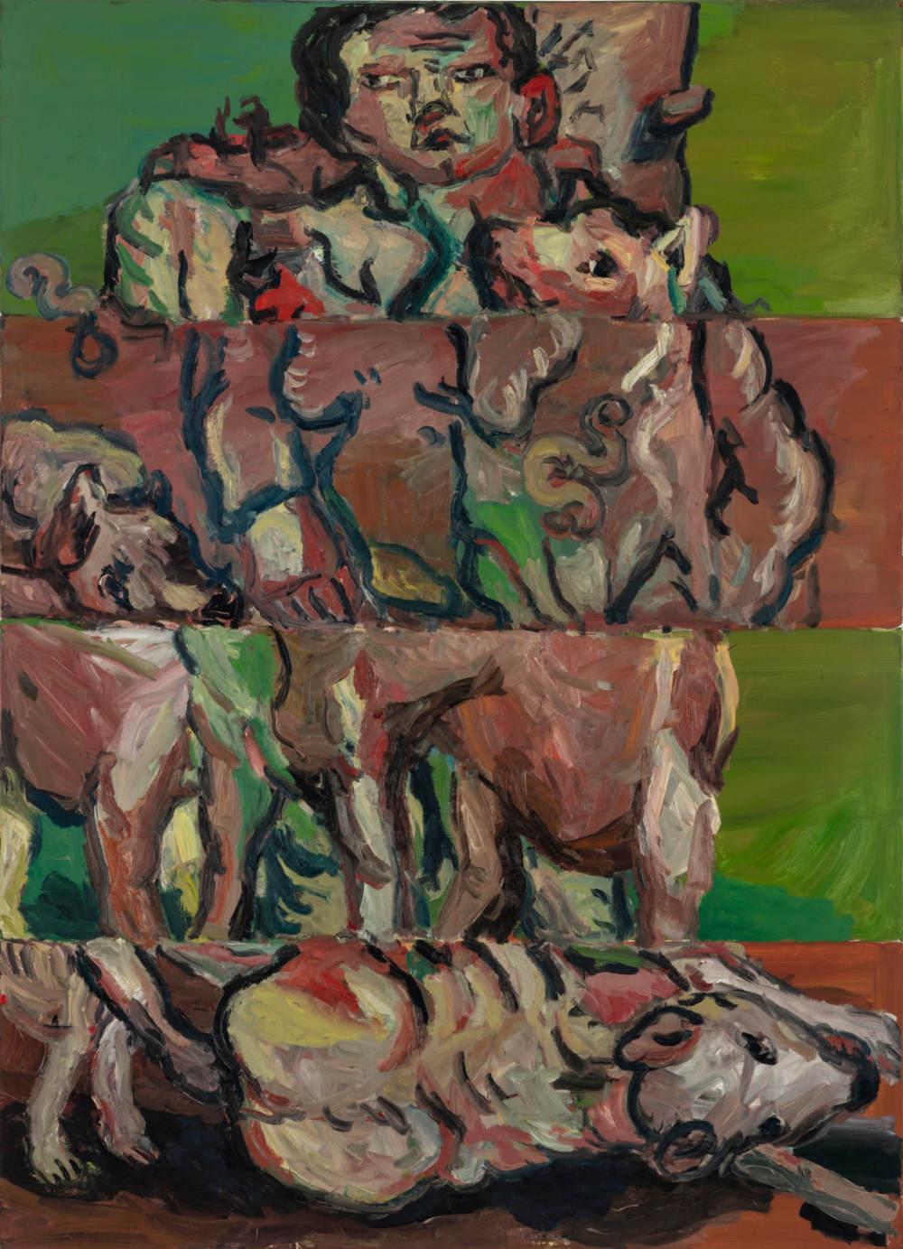 Georg Baselitz, Der Jäger (The Hunter), 1966. Oil on canvas 71 x 51 1/4 inches 180.3 x 130.2 cm