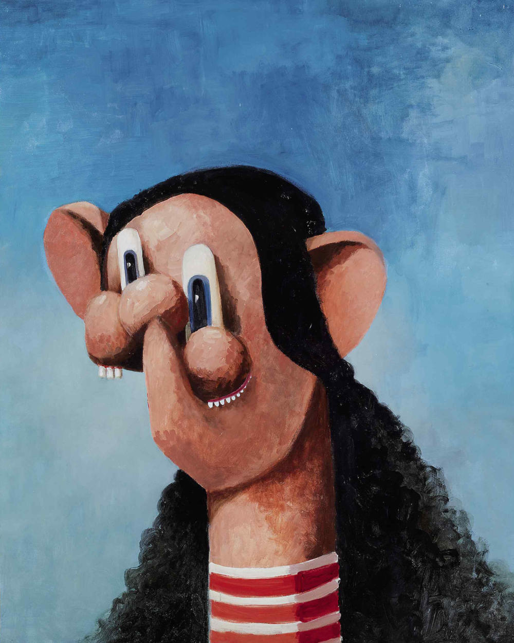 George Condo, The K-Mart Girl, 2001. Oil on canvas 73 3/8 x 61 3/4 inches 186.4 x 156.8 cm