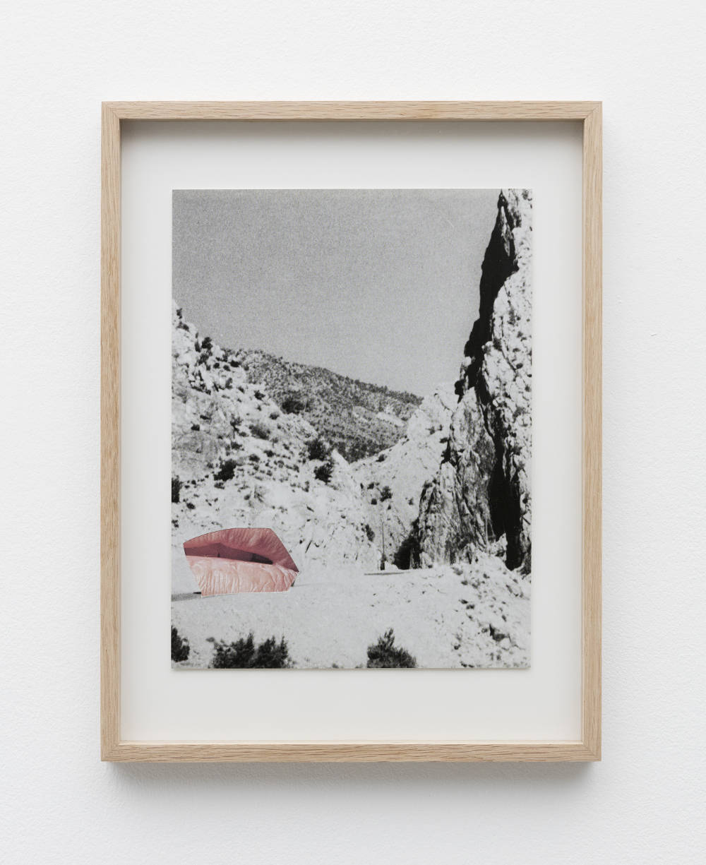 Eleonore False, Camouflage #3, 2018. Collage. Framed Dimensions: 38 x 29 cm (14.96 x 11.42 inches) Courtesy of the artist & VNH Gallery. Photo: Claire Dorn