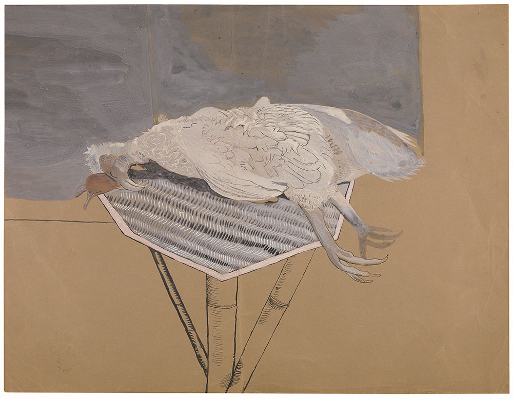 Freud - Dead Bird on a Bamboo Table 1944