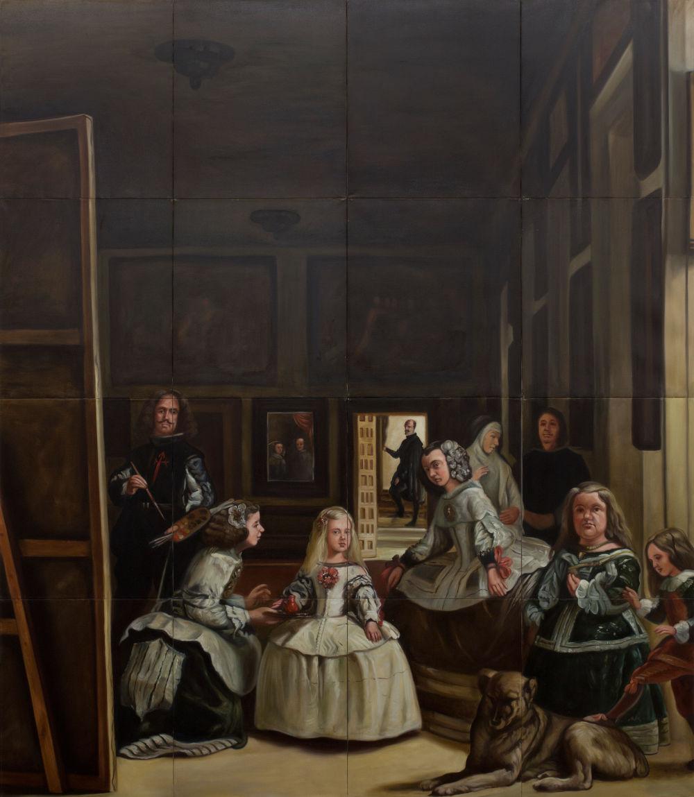 Gabriele Di Matteo, Quadro di famiglia, 2011. Oil on canvas 318 x 276 cm