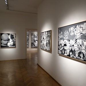 Erró: Black and White @Galerie Ernst Hilger, Vienna  - GalleriesNow.net