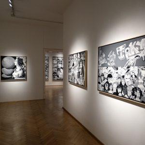 Erró: Black and White @Galerie Ernst Hilger, Vienna  - GalleriesNow.net