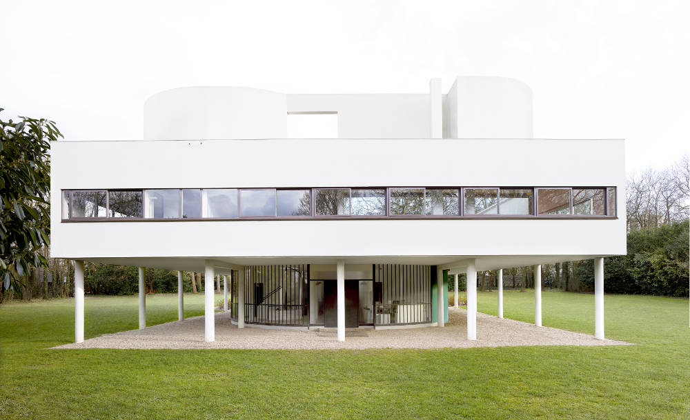 Candida Höfer, Villa Savoye (Le Corbusier) Poissy VIII 2018, 2018. Image Dimensions: 180 x 269.6 cm (70.87 x 106.14 inches) Framed Dimensions: 185 x 274.6 cm (72.83 x 108.11 inches) Edition 2 of 6. Courtesy of the artist & VNH Gallery © Candida Höfer
