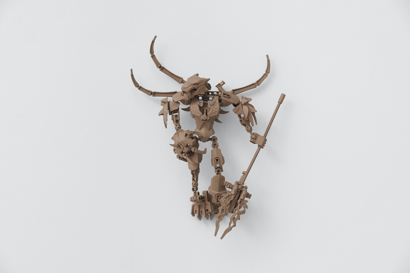 Yngve Holen, The Animal House Is Closed, 2019, bronze, 49 x 41.5 x 13 cm, 19 1/4 x 16 3/8 x 5 1/8 ins. Photo: Ben Westoby. © Yngve Holen. Courtesy the artist & Modern Art, London