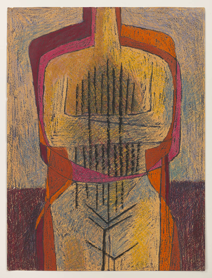 Luchita Hurtado, Untitled, c. 1951, Crayon and ink on paper, Unique, 61 x 45.9 cm  © Luchita Hurtado, Courtesy Los Angeles County Museum of Art, Gift of Janet Dreisen Rappaport and Herb Rappaport through the 2019 Collectors Committee, Photo: Genevieve Hanson