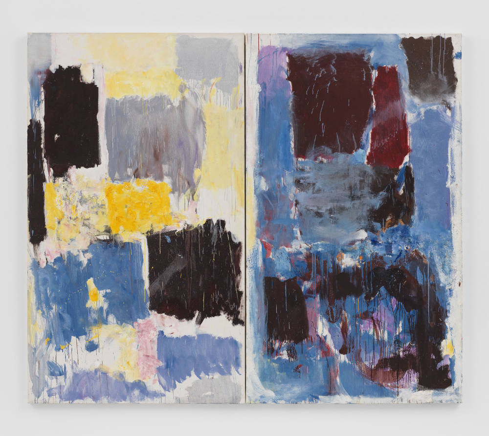Joan Mitchell, Untitled, 1972. Oil on canvas in two (2) parts 76 3/4 x 89 7/8 inches 194.9 x 228.3 cm © Estate of Joan Mitchell. Collection of the Joan Mitchell Foundation, New York. Courtesy David Zwirner