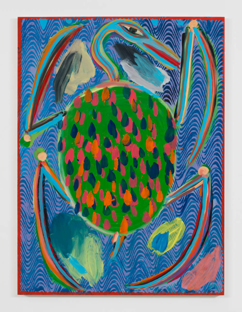 Josh Smith, Turtle, 2019. Oil on wood panel 48 x 35 3/4 inches 121.9 x 90.8 cm © Josh Smith. Courtesy the artist and David Zwirner