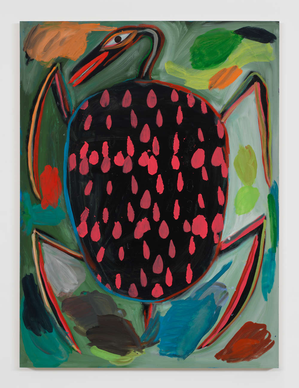 Josh Smith, Turtle, 2019. Oil on wood panel 48 1/8 x 36 inches 122.2 x 91.4 cm © Josh Smith. Courtesy the artist and David Zwirner